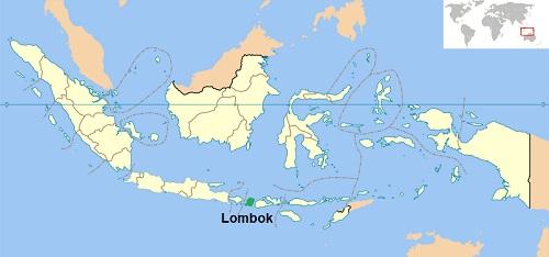 Locatie Lombok - Indonesië