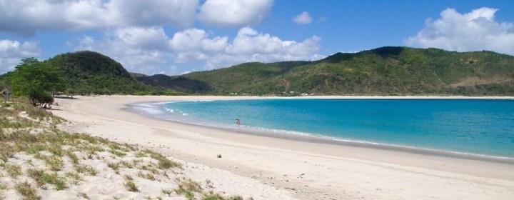 Mawun Beach, één van de stranden van Lombok