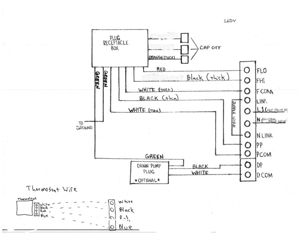 medium resolution of wiring schematic for 115 volt