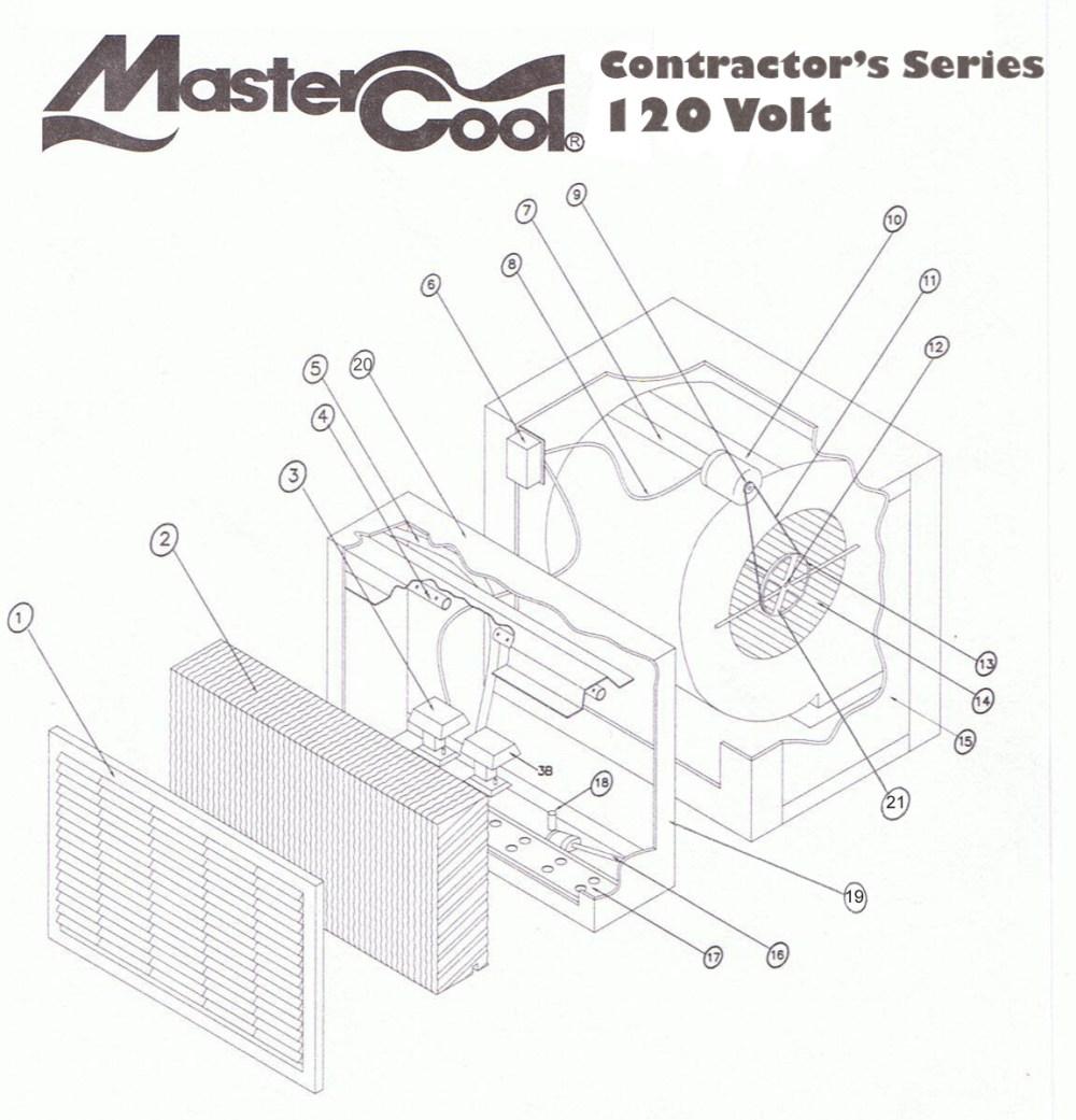 medium resolution of adobeair mastercool chc631 a c parts breakdown list rh indoorcomfortsupply com swamp cooler thermostat wiring diagram champion swamp cooler wiring diagram