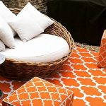 I Love This Exotic Outdoor Rug In A Classic Tangerine White Design