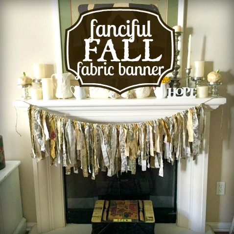 Quick and easy Fall fabric banner DIY craft project
