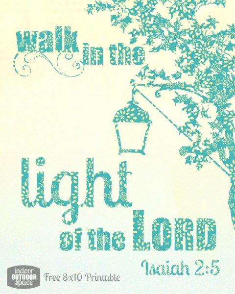 walk in the light Isaiah 2 printable scripture verse