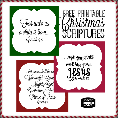 Free Christmas Scripture Verse Printables by Shalana