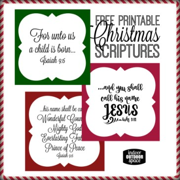 Free Christmas Scripture Verse Printable for Gift Tags