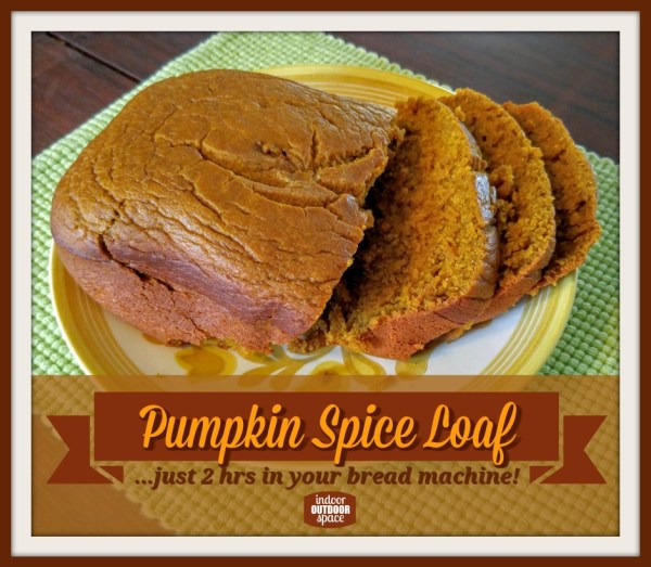 Pumpkin Spice Loaf Bread Machine Recipe at Indoor Outdoor Space