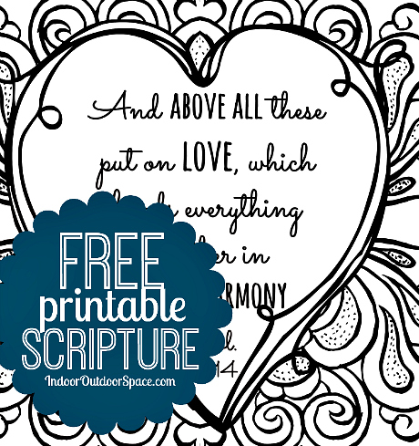 Valentines Day Scripture Colossians 3 Free Printable Coloring Page Download