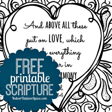 Free Valentines Scripture Verse Printable Coloring Page