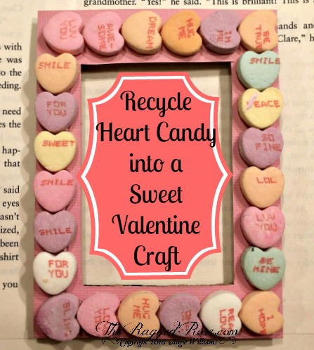 Sweet DIY Candy Heart Magnetic Frames