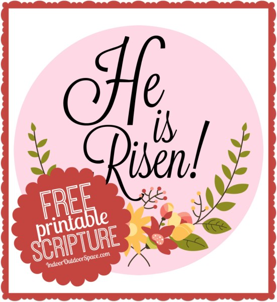 Free Easter Scripture 6 inch Printable Circle for Crafts at Indoor Outdoor Space
