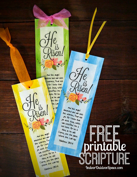 Free Easter Bookmarks He is Risen Scripture Printable DIY Craft Tutorial
