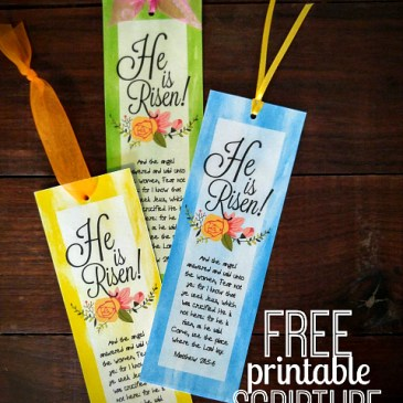 Easy Laminated Easter Bookmarks Gift with Free Printable