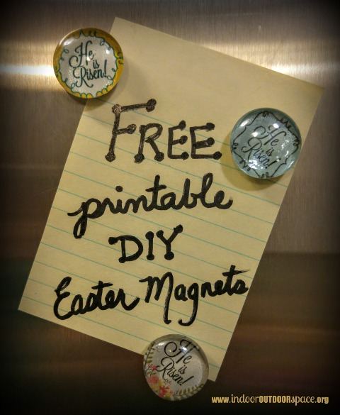 Free Easter Printable and DIY Glass Gem Magnet Craft Tutorial at Indoor Outdoor Space