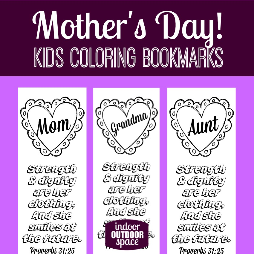 photo regarding Free Printable Bookmarks for Kids named Proverbs 31 Moms Working day Scripture Coloring Bookmarks