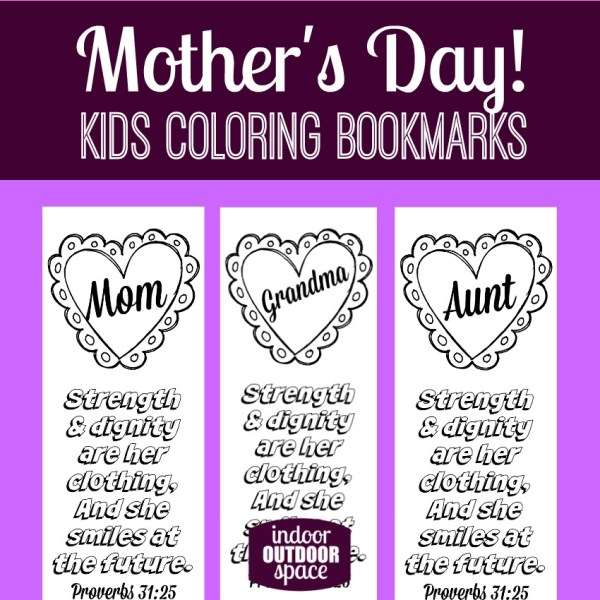 Free Printable Kids Coloring Page for Mothers Day with Proverbs 31 Scripture Verse at Indoor Outdoor Space
