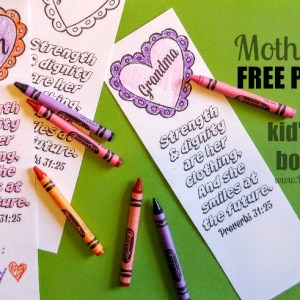 Mothers Day Coloring Bookmarks