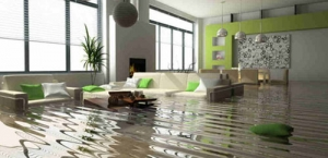 A flooded property