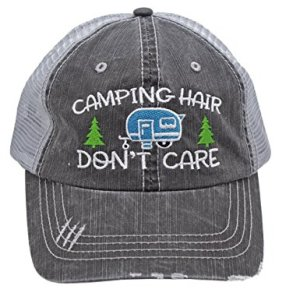 camping hat, camp clothes, womens trucker hat, camp hair dont care