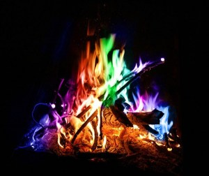colorful campfire flames, camping, colorful flames, fire pit products, family camping fun