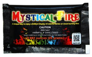 colorful campfire flames, fire flame colorant, holiday parties, camping fun