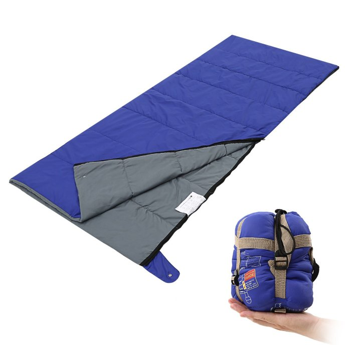 Andake Envelope Blanket and Sleeping Bag with Compression Sack, 3 Season Indoor Outdoor, Hiking, Camping, Backpacking, Traveling