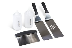 bbq grill set, kit, scraper, long spatulas, flat top cooking, griddle, bbq, barbecue, camping