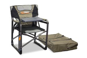 camping chair, with table, oztent gecko, lumbar support