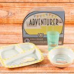 Zak Designs 6741-0391 3-Piece Plastic Plate, Bowl & Cup Gift Set 3, Toyhauler and Tents