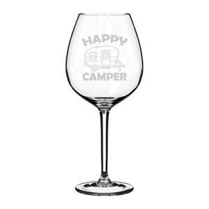 stemmed wine glass, stemless wine glass, goblet, camping, camping, glamping, wine, big wine glass, retro, vintage, shasta camper