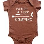 I'm Told I Like Camping Silhouette Baby Bodysuit Onesie