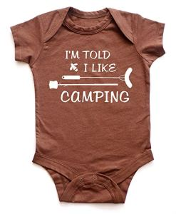 funny camping baby onesie, funny camping shirt, baby sizes, camping, glamping, onesie