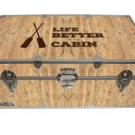 Life is Better at The Cabin – Cottage & Cabin Storage Trunk – Themed Footlockers – 32 x 18 x 13.5 Inches