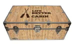 life is better at the cabin, food locker, Storage Trunk, Footlocker Camping, Glamping, Cottage, Cabin