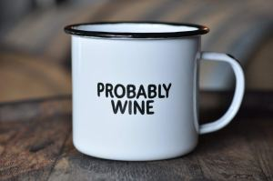 funny mug, humorous mug, wine, wine drinkers, wine lovers, campers, camping, backpacking, enamel coffee mug, coffee, mugs