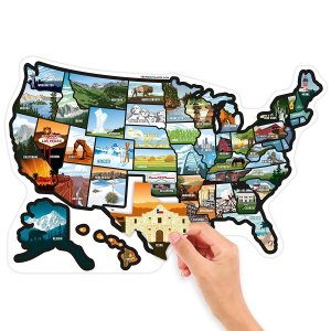 rv state stickers, state stickers for campers, rv travel game, rv travel map