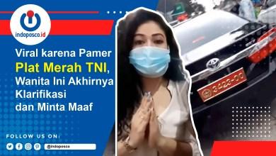 , Viral Pamer Plat Merah TNI, Perempuan ini Minta Maaf