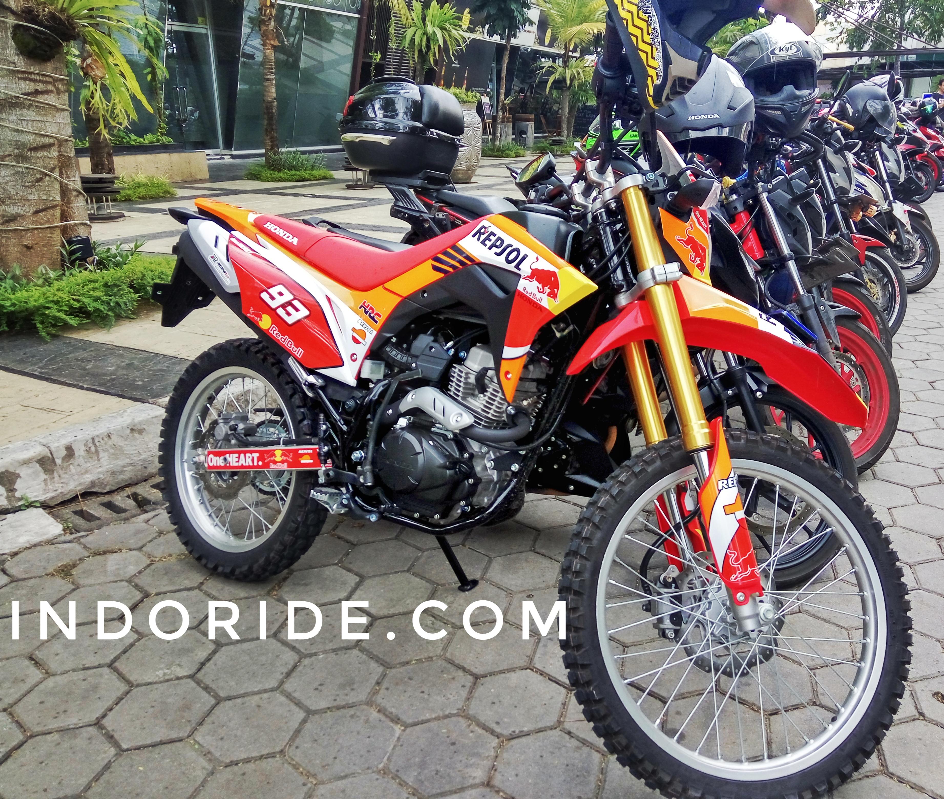 Modifikasi Honda CRF150L Livery Repsol MotoGP Ketika Fans Marquez