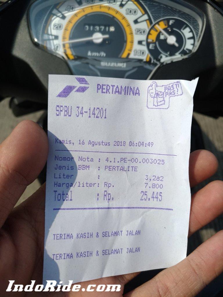 1 Liter Bensin Berapa Km Motor : liter, bensin, berapa, motor, Ngetes, Hasil, Konsumsi, Suzuki, Hasilnya..., Mencengangkan!, INDORIDE.COM