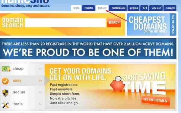 cara-transfer-domain-namesilo