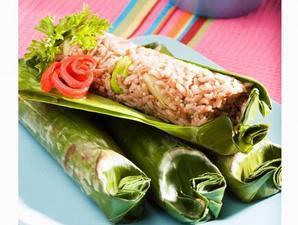 Resep Nasi Merah Bakar Teri Medan