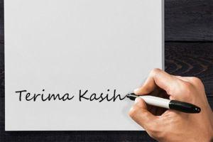 Menulis Catatan Terima Kasih