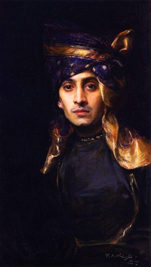 Pandit as Indian Prince  Painting A Portrait by De Lszl