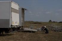 1. Trucks arrived