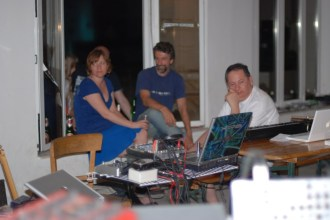 6. Earthgirl, Paul Nagle and Bill Fox taking a short break