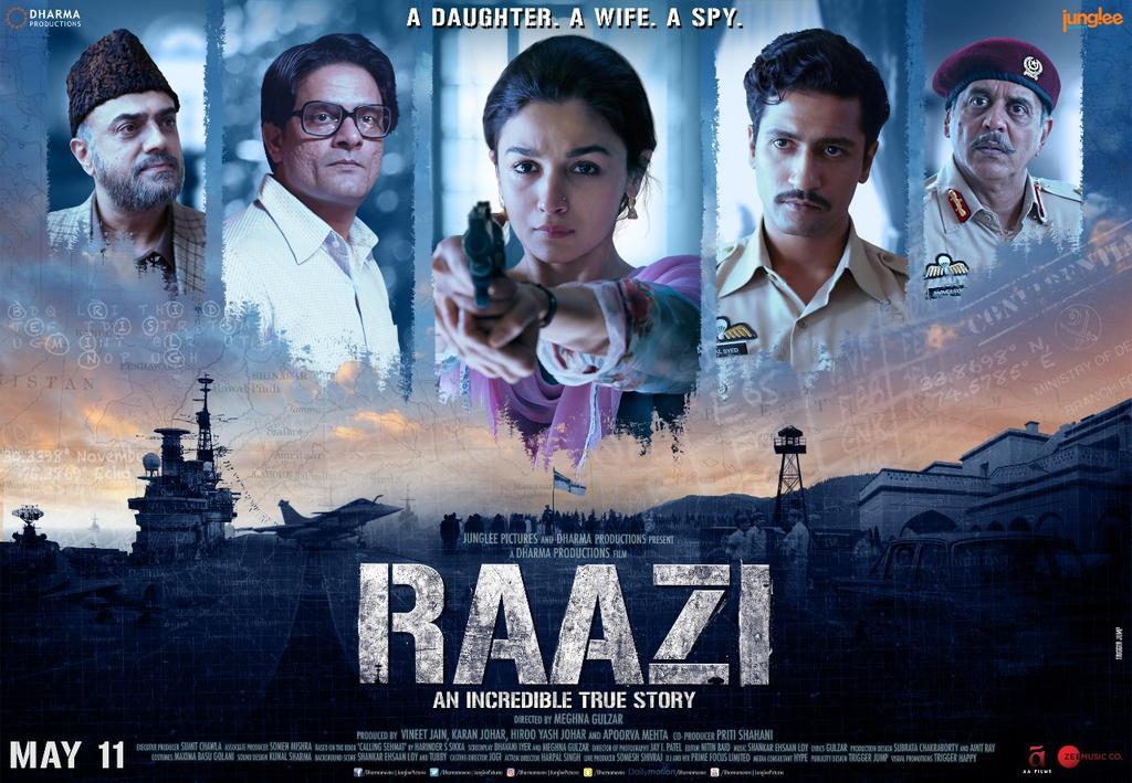 Raazi poster
