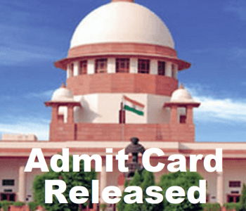 Supreme Court Junior Court Attendant Admit Card 2018
