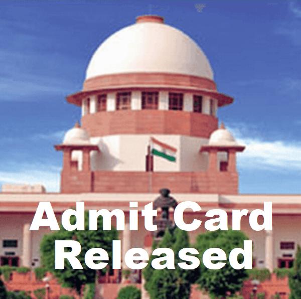 Supreme Court Junior Court Attendant Admit Card 2018