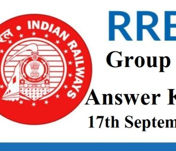 RRB Group D Answer Key 2018 17 September