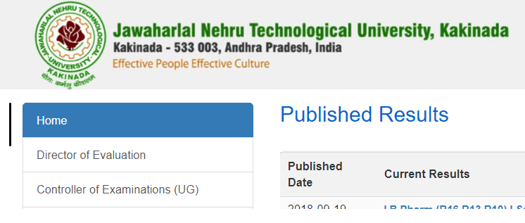 JNTUK 4-1 Sem (R13,R10) Results 2018 Oct/Nov Declared on Jntukresults.edu.in