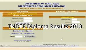 TNDTE Diploma 1st 3rd 5th sem Result 2018-19